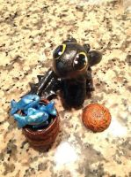 Toothless Figurine by Dragolicious