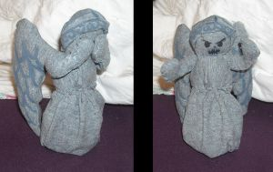 Weeping Angel Plush by DonutTyphoon