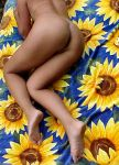 Nude on a sunflower towel by Grey8Wolf