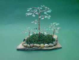 Bonsai wire tree forest by sinisaart