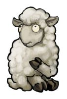 White Sheep Card Design by ursulav