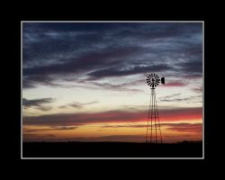 Windmill at Sunset by pastorgavin