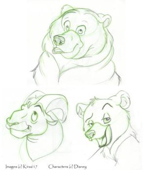 Brother Bear Char. Sketches by kira617