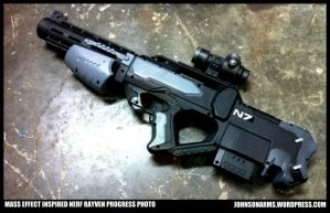 Mass Effect Inspired Nerf Rayven by JohnsonArmsProps