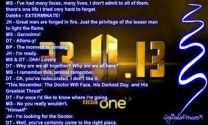 Doctor Who 50th Trailer - Dialogue by GryffindorPrincess74