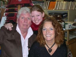 Me, Tom Baker, Louise Jameson by silverDeer