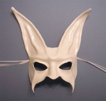 Leather Mask of a White Rabbit by teonova