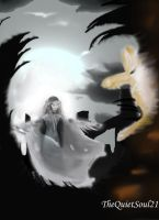 Galadriel vs Sauron by TheQuietSoul21