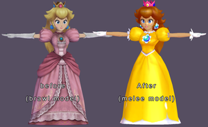 brawl 2 Melee Peach WIP by chatterHEAD