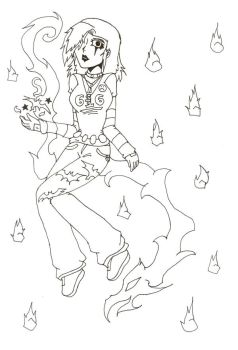 Retsu my anime OC lineart by Quistis123