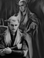 Like Father Like Son-(Thranduil and Legolas) by MischievousMonster
