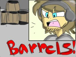 Pewdiepie and the barrels... by SonicStarz1