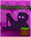 Minecraft Valentine: Enderman by boxedcrow