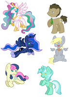 More Pony Stickersss by KakashisChika