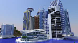 Minecraft City Render by TheApiem
