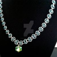 Frozen Inspired Chainmaille Necklace by Rosie-Periannath