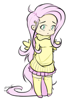 Fluttershy By Secret Pony D625tvg By Nitemarel by NitemareLuffy