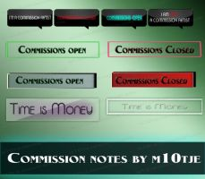 Commission notes by M10tje