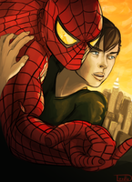 Harry and Spidey - Mary Jane Style Poster by 7thValkyrie