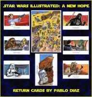 Star Wars Illustrated: A New Hope (return cards) by Reznorix