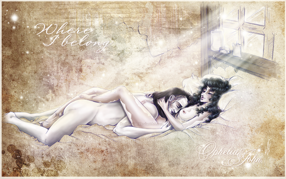 Penny Dreadful - OpheliaxJohn - Where I belong by RedPassion
