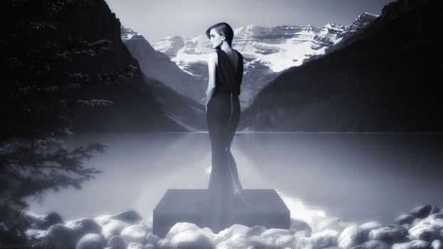 Emma Watson Lady of the Misty Lake by Dave-Daring