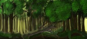 a forest landscape by sourav97
