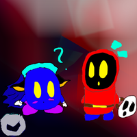 Chibi Shy Guy and Meta Knight~unmasked by ShadowTerra345