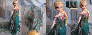 Elsa OOAK Doll from Frozen Fever - details by kara023