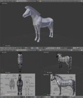Low Poly Horse by BlenderFan