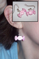 Candy Stripe Earrings ver. 1 by UniqueTreats