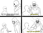 Undertale Ace- I Get To Be The Boyfriend! by putt125
