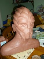 WIP Garrus head sculpt by Adam Hurst by Manjou