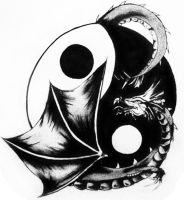 Ying Yang Dragon by Etli
