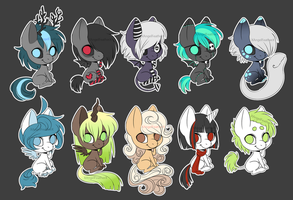 MLP Adoptables [CLOSED] by XAngelFeatherX