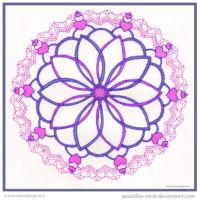 Mellow Love Mandala by Quaddles-Roost