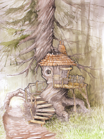 Tree house by Syrriolth