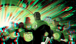 Green Lantern Corps in 3D Anaglyph 2 by xmancyclops