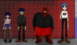 Gorillaz Group by Skycheese