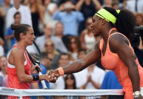 Serena Williams handshake by lowerrider