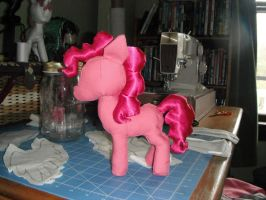 Pinkie Pie Plush (from the side) by TheRedBandit