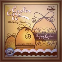 Cute Easter Eggs Free Photoshop Brushes by Romenig