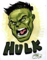 Hulk head by bathill8