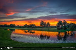 Sunset-at-Golf-Course-in-Abacoa-Florida by CaptainKimo