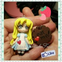 Alice in the Wonderland Handmade Polymer Clay by DarkettinaMarienne