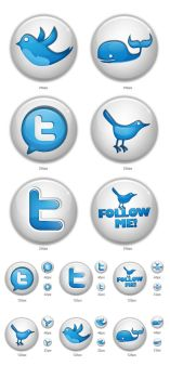 Twitter button icons by iconhive