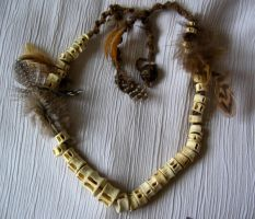 Caudal Vertebrae Necklace by Hymenomycotina