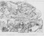 The Darkness double page spread pencils by skeel76