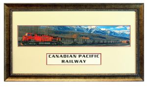 Double Matted 5 picture panorama of CP Train by Joe-Lynn-Design