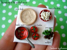 Pizza Party in Miniature by AlliesMinis